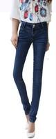 2014 new  Elastic thin jeans  Little cowboy pants Female pencil pants