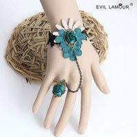 Min.order is $15 Vintage flower vine lace bracelets & bangles handmade women accessories Gothic jewelry WS-301