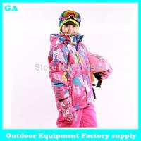 Dropshipping brand new Winter Baby Thicken Duck waterproof windproof Kids Children Warm ski suits -30Degree snow jacket girl