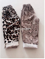Free shipping Retail 2014 autumn new with dense brocade cotton Haren pants parent-child one generation