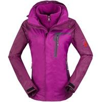 Women's Clothing Outdoor Coats & Jackets 3 in 1 Women outdoor sports jacket Skiing suit climbing Waterproof & breathable coat