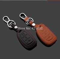 Genuine  Fine Leather Car Key Case For  Hyundai Mistra 3 Button Remote Key, Car Key Holder/Key Bag Free Shipping