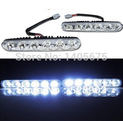 High and low beam 18w Aluminum LED DRL daytime running lights with lens waterproof High Power DRL E4 CERTIFICATE FREE SHIPPING(China (Mainland))