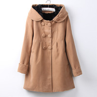 2014 New Designer Fall/Winter High quality Coat Women Clothing Classic Lapel Double Pocket Longline Wool Oversized Coat 635