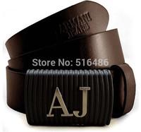 High quanlity vintage first Layer of Cowhide Belt Classic Brand 100% men brown AJ Genuine Leather Belt  belt