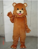 BIG SALE!!Professional BIG FACE TEDDY BEAR Mascot Costume Fancy Dress Adult Size  Free Shipping