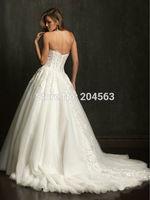 Free Shipping A Line Elegant Wedding Dresses Lace vestido de noiva Custom size/color