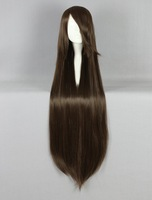 Women Girl Beautiful  Oblique bangs Long Straight Hair Wig For Cosplay Costume Party wig 017G