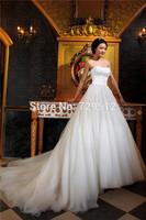 Free Shipping A Line Elegant Wedding Dresses vestido de noiva Custom size/color