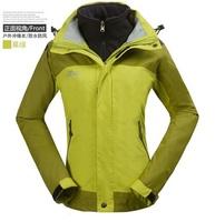 New Arrival brand women 3 In 1 jacket windproof waterproof outdoor jacket warm hiking jacket ski suits size S-XXL