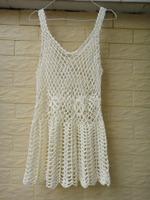 White Crochet Dress Women Long Dressy Tank Top