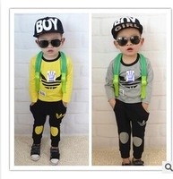 NEW 2014 autumn  baby clothing set  Long-sleeved pants boy suit,Children's suit Children's clothes,boy set,children's clothing,