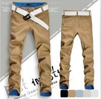 2013 Men's new Korean style pockets design zipper casual long straight pants
