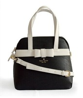 Free shipping 2014 new fashion spade women bag litchi profile KS bowknot seashells bag handbag Messenger bag
