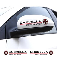 15x3cm 2pcs/lot  Resident evil umbrella decoration car rearview mirror stickers,fashion reflective car styling vinyl stickers