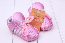 envío gratuito nueva marca zapatillas zapatos de bebé los niños recién nacidos& niñas niños zapatos zapatos caminantes primero 5 colores párrafo zapatos de bebe(China (Mainland))