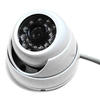 "1/3"" 1000TVL 24Leds Day and Night IR Color Outdoor dome CCTV Security Camera 3.6mm wide angle lens"