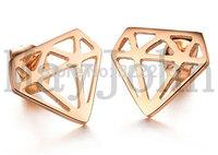 [Min. Order $20] Rose Gold plating stainless steel earrings ear stud  fake ear plug body jewelry STER5568