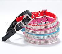 PU Collars Exquisite Netword Diamond Collars Rhinestone Buckle Cats Dogs Collars Pet Crystal Collar Pet Supplies