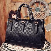 2014 new female Fashion bag  leisure retro checkerboard single shoulder  bag,casual handbag, lady party handbags