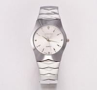 Longbo Rhinestone Decoration Round Dial Quartz Hours Analog Stainless steel Japan Movt Wrist Watch for Men