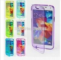 High quality Ultra thin transparent Clear Flip cover TPU Case For Samsung Galaxy s5 mini G800 300pcs/lot DHL free @2