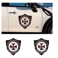40x35CM   Resident Evil style umbrella and shield decoration car sticker ,high quality reflective car door styling  stickers