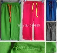2014 children fleece warm clothing girls sport pants Female baby kids trousers autumn Winter shampooers thick clothes sportswear