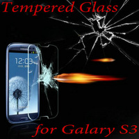 Explosion Proof Premium Tempered Glass Screen Protector for Samsung Galaxy i9300 S3 Anti Shatter Film & Retail Box