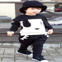 new spring 2014 Children boy child cotton kids set sweater 90-130cm 5set/lot free shipping