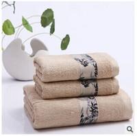 Free shipping, bamboo fiber bath towel towels combination package, jacquard bamboo, environmental health, soft and beach towel