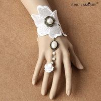 Min.order $15 Bride Lace Wriststrap Bracelet Ring Deluxe Chain Bracelet Fashion Wedding Jewelry Accessories Best Gift WS-317
