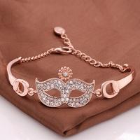 VGBA192 Brand Name Luxury Jewelry Mask Bracelet Top Quality 18K Rose Gold Plated Bracelets Pulseira Wholesale