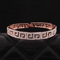 VGBA172 Brand Name Luxury Jewelry Trendy Full Rhinestones Bracelet Top Quality 18K Rose Gold Plated Bangle Pulseiras wholesale