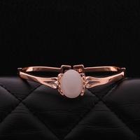 VGBA184 Brand Name Luxury Jewelry Opal Bracelet Top Quality 18K Rose Gold Plated Bangle Pulseira Wholesale