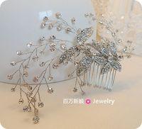 Exquisite handmade bridal gold/imitation rhodium leaf  hair comb wedding formal dress hair jewelry