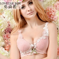 2014 fashion sexy girls bra together gather sexy lace embroidery small pure and fresh and clients free shipping