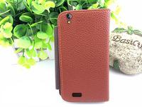 6 colors wallet bag leather case for Philips Xenium I908 holder function flip case , gift