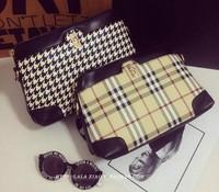 Desiugal 2014 New  british style plaid bag Brand women shoulder  handbag cultch bag luxury bag  tote bag