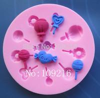 Free shipping !!!1pcs Mini New Style Small Lollipop Type (154) Silicone Handmade Fondant/Cake Decorating DIY Mold