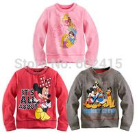 New 5pcs Children girl's boy's  Autumn Spring long sleeve  t-shirt with cartoon  3 designs 81046
