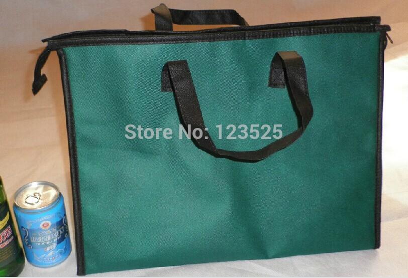 Melhor Quanlity um pedaço bolsa térmica 45x29x32cm thermo Duplas Cooler Bag saco miúdos almoço ao ar livre recipiente de alimento saco do bebê mãe(China (Mainland))