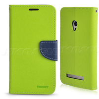 New High-class Dual Color Leather Wallet Case Cover w/ Stand For Asus Zenfone 5
