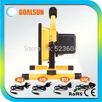 Free Shipping 2pcs/lot Portable 50w floodlight Rechargeable Led flood light 50watt outdoor spotlight GS-W-50E