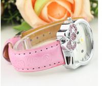1 PCS Hello Kitty Steel Watches For Women Girls Students Lady Women Wristwatches women dress watches