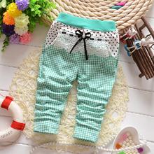 L'autunno della 2014 coreano nuovo bambino ragazza bambino coperte con belle reticolo star maglia pantaloni pantaloni b113(C