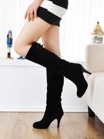 New Fashion Winter Autumn women's martin boots nubuck leather high-leg high-heeled boots /platform 2cm