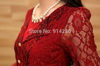 Free Shipping--2014 Hitz ladies fashion button decorative lace dress