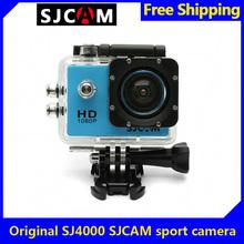 Free Shipping!Official SJCAM SJ4000 Blue Bicycle Helmet Sport DV Action Waterproof Car Camera(China (Mainland))