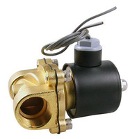 FREE SHIPPING!Free  Shipping!20mm Orifice DC 24V 2 Port 2 Position Pneumatic Solenoid Valve 3/4""